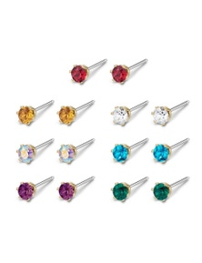 Mestige Golden Regal Everyday Pack Earrings with Swarovski Crystals