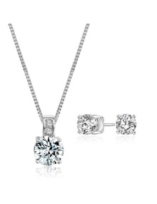 Mestige Anna Necklace and Earring Set with Swarovski Crystals