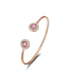 Mestige Ayla Bangle with Pink Swarovski Crystals Bracelet