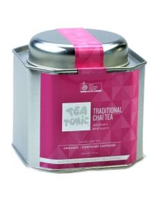 Traditional Chai Tea Loose Leaf Caddy Tin