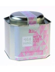 White Tea & Rose Petals Loose Leaf Caddy Tin