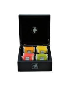 Black Wooden Mini Tea Chest - Filled