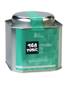 Peppermint Tea Loose Leaf Caddy Tin