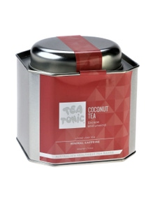 Coconut Tea Loose Leaf Caddy Tin