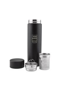 Tea Tonic Thermal Tea Bottle with Infuser 450ml - Black