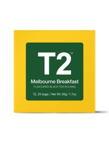 T2 Teabags - Melbourne Breakfast Bio Tbag 25pk Y/B