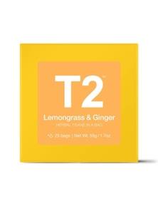 T2 Teabags - Lemongrass & Ginger Bio Tbag 25pk Y/B