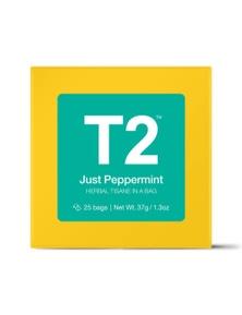 T2 Teabags - Just Peppermint Bio Tbag 25pk Y/B