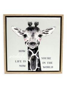 Splosh Baby Giraffe Framed Canvas