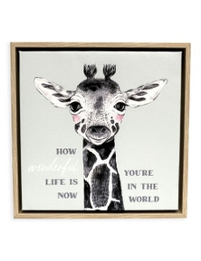 Splosh Baby Giraffe Framed Canvas