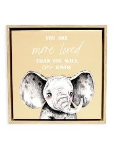 Splosh Baby Elephant Framed Canvas