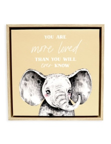 Splosh Baby Elephant Framed Canvas