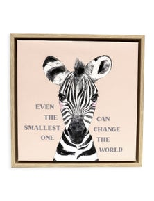 Splosh Baby Zebra Framed Canvas