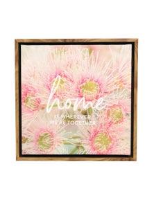 Splosh Flourish Home Framed Canvas