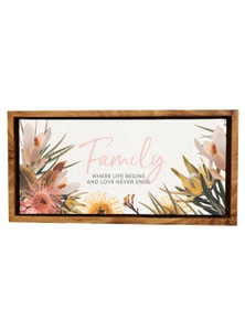 Splosh Flourish Family Framed Canvas