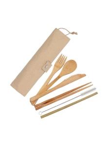 White Magic Eco Basics Reusable Bamboo Cutlery Set