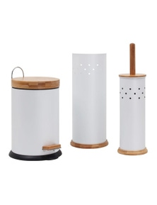 White Magic Eco Basics 3 in 1 Bathroom Set White