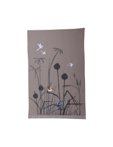 The Linen Press - Blue Wren - Grassland - Tea Towel
