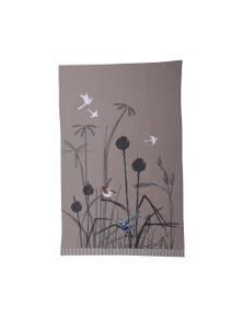 The Linen Press - Blue Wren - Grassland - Tea Towel