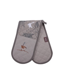 The Linen Press - Blue Wren - Grassland - Double Mitt