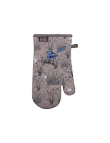 The Linen Press - Blue Wren - Grassland - Single Mitt