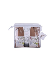 The Linen Press - Natural Botanical Gift Pack (2 x Olive Oil Soaps, 1 x Hand Cream)