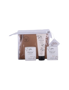 The Linen Press - Natural Olive Oil & Eucalyptus Gift Pack (2 x Olive Oil Soaps, 1 x Hand Cream)