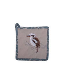 The Linen Press - Kookaburra & Banksia - Pot Holder