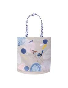 The Linen Press - Wild Blue Wren - Pastel - Shopper Bag