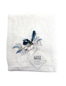 The Linen Press - Blue Wren - Face Washer