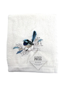 The Linen Press - Blue Wren - Face Washer