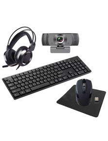 Laser 5 In 1 Wireless Keyboard and Mouse Combo