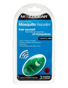 Mozzigear Ultrasonic Mosquito Repeller Sound Frequency Non-Toxic - Assorted Colours