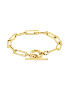 By Fairfax & Roberts - Contemporary Rectangular Chain Bracelet
