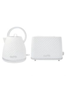 Westinghouse 1.7L Kettle and Toaster Pack - White