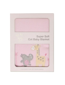 My Baby Tropicana Super Soft Cot Baby Blanket