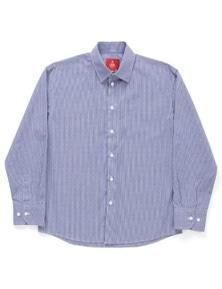 Fred Bracks Junior Brando Long Sleeve Navy Check Shirt