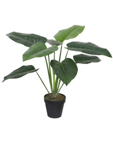 Potted Artificial 85Cm Elephant Ear Philodendron