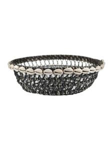 Hand-Woven 20cm Bowl w/ Shells