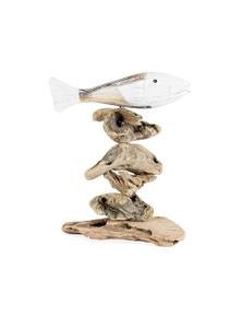 Fish on Driftwood Base 30cm