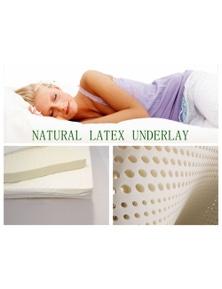 Benson PREMIUM QUALITY 100% Pure Nature Latex Mattress Topper Overlay Healthy Sleep