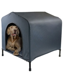 PawsClaws Elevated Pet House W/CushionLarge
