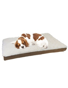 PawsClaws 75x50cm Orthopedic Pet BedBrown Suede