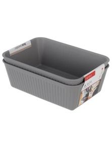 Box Sweden 17x11cm Kaia Storage Trays-Assorted 2PK