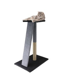 Paws and Claws Catsby Angled Scratching Post - Cool Grey