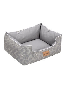 Paws and Claws Fremantle Oxford Walled Small Pet Bed - Grey
