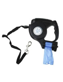 PawsClaws 5m 3-in1 Retractable Lead w/LED LightBag Dispenser
