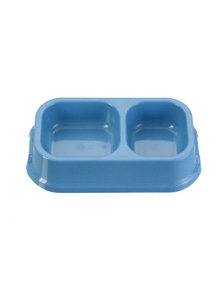 PawsClaws 24.5cm Small Square Dual Pet Bowl-Assorted