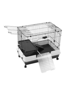Paws and Claws Pet Cage On Wheels 81X52.5X66Cm