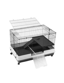 Paws and Claws Pet Cage Lge On Wheels 100X65X66Cm